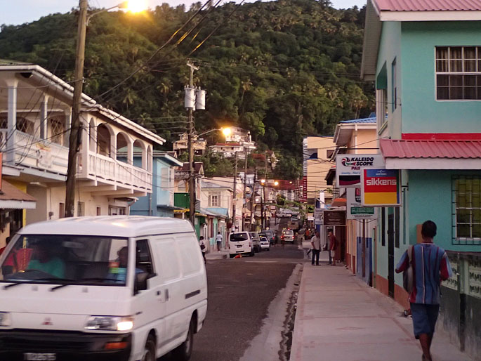 Soufriere town, St Lucia