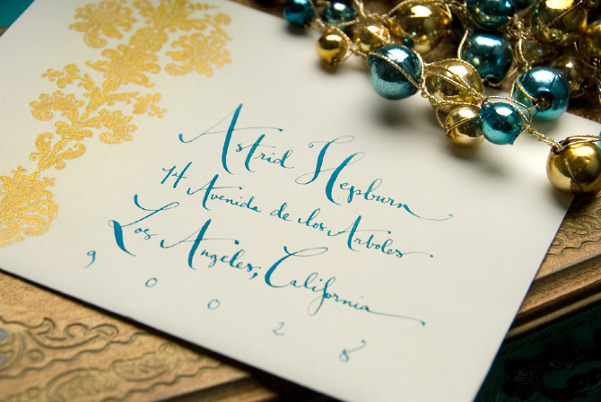 Kathryn Murray Calligraphy Envelope Sample