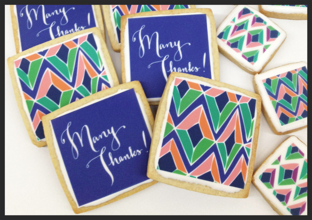 Custom cookies for gifts.