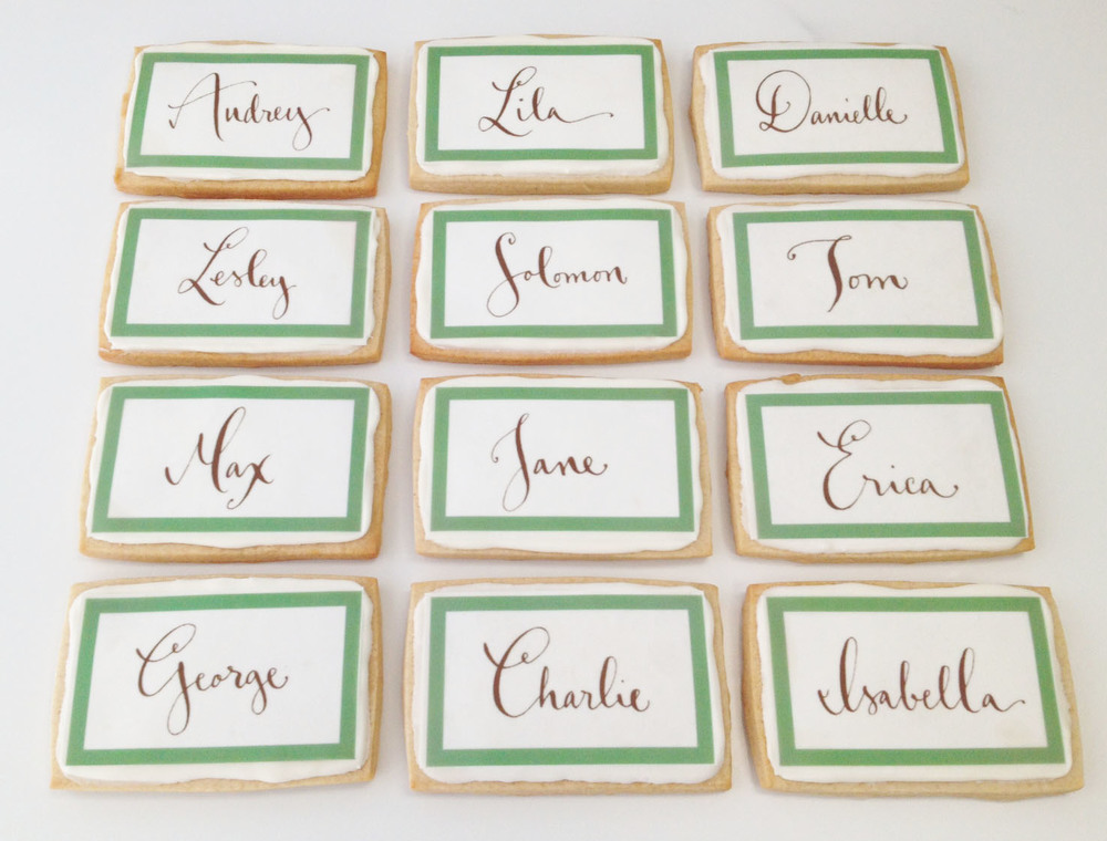 Individual tile place cards