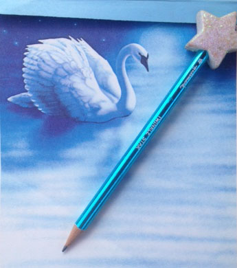 Found! My swan stationery, circa 1987