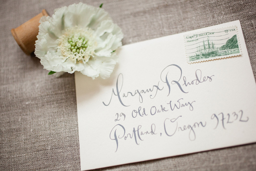 Kathryn Murray Calligraphy. Photography by Tara Francis