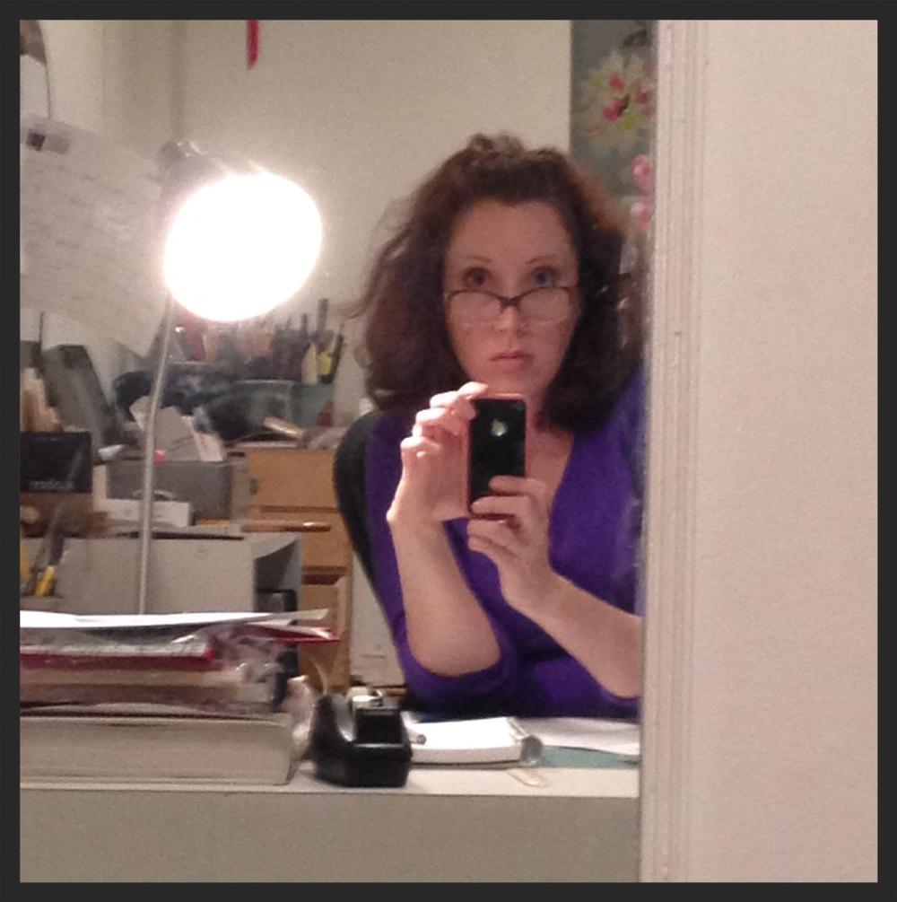 "A very serious ""selfie."""