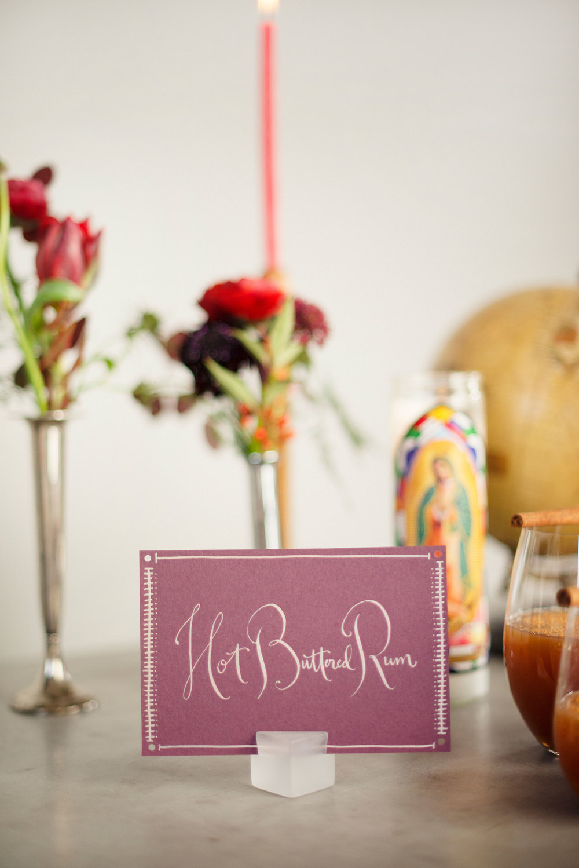 Menu by Kathryn Murray Calligraphy Photography by Adonye Jaja