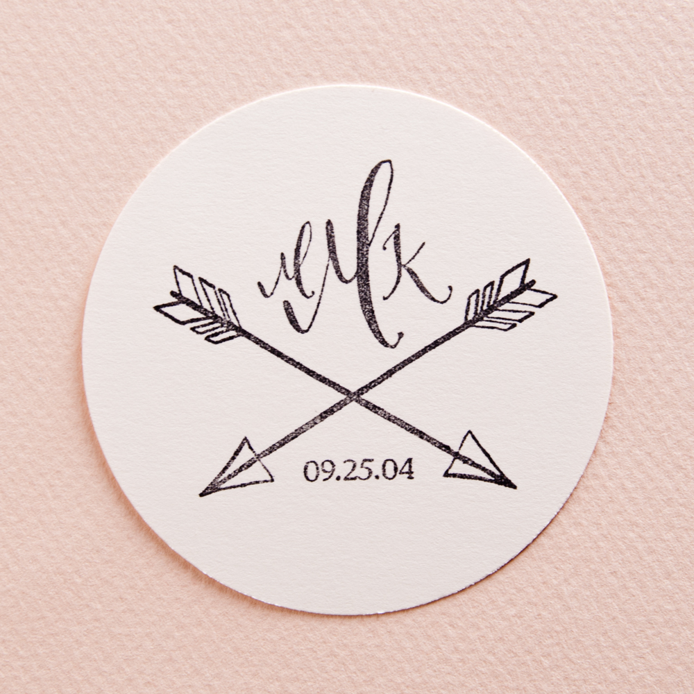 Kathryn Murray Calligraphy monogram stamp