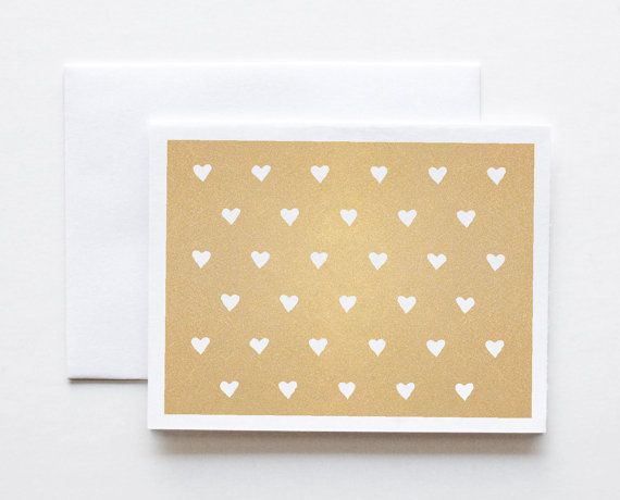 Simple and sweet gold note by The Paper Cub