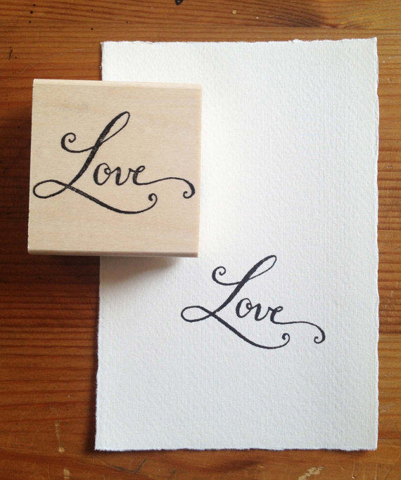 Love Stamp by Kathryn Murray Calligraphy