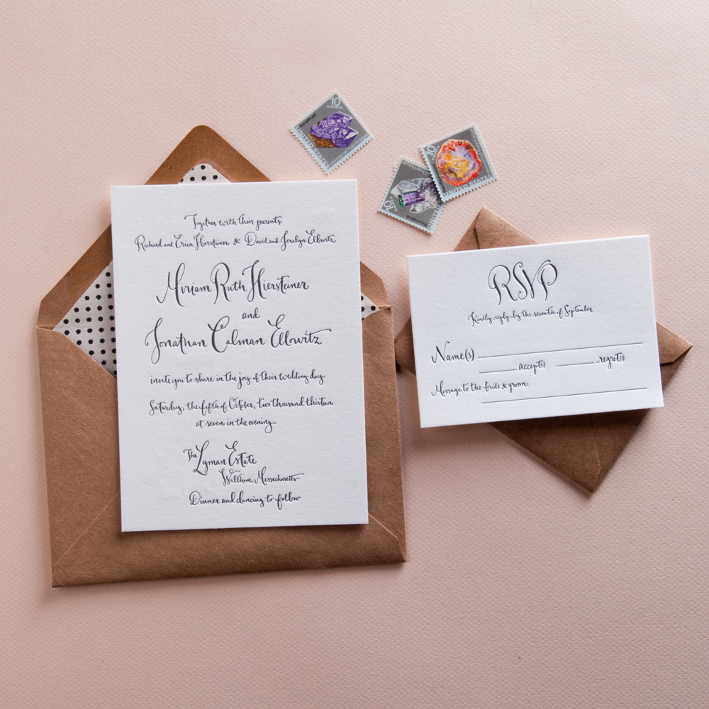 Kathryn Murray Calligraphy Letterpress Invitations