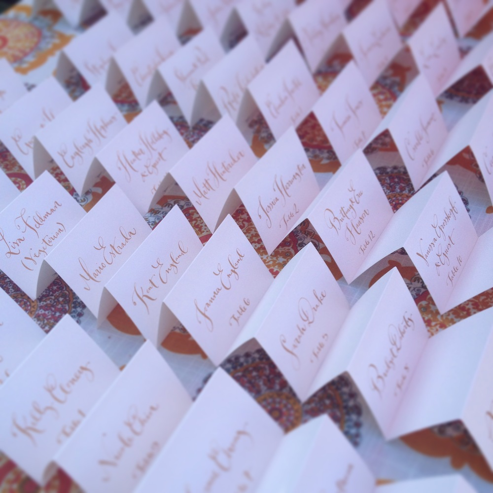 Escort Cards by Kathryn Murray Calligraphy