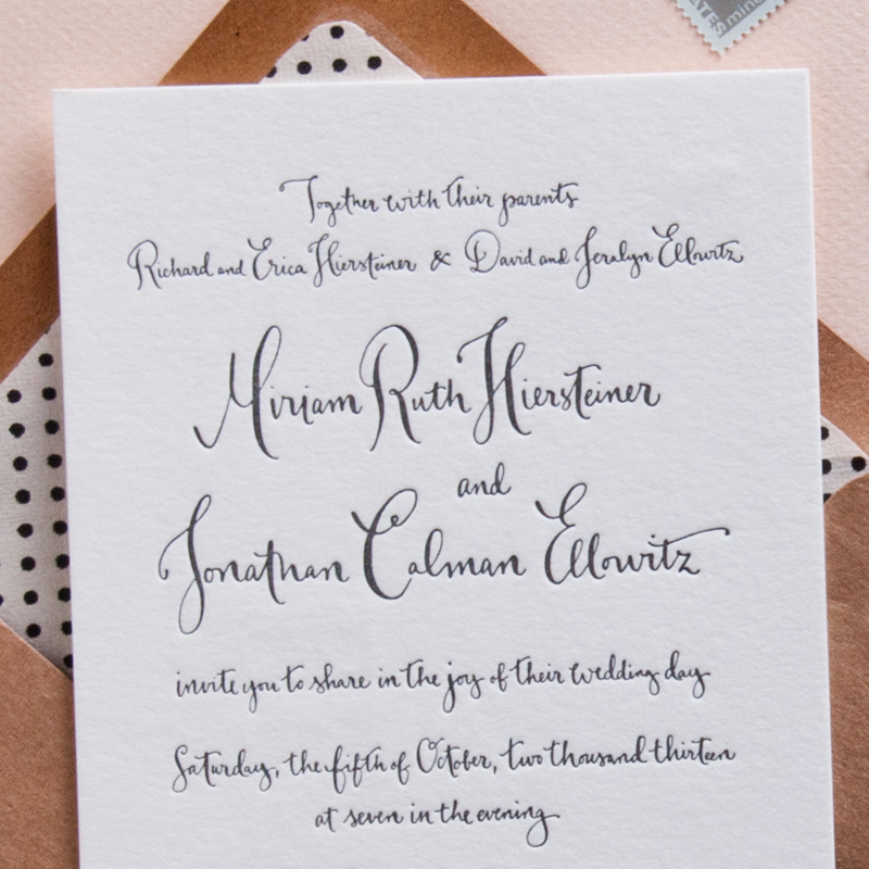 letterpress invitation by kathrynmurray.com