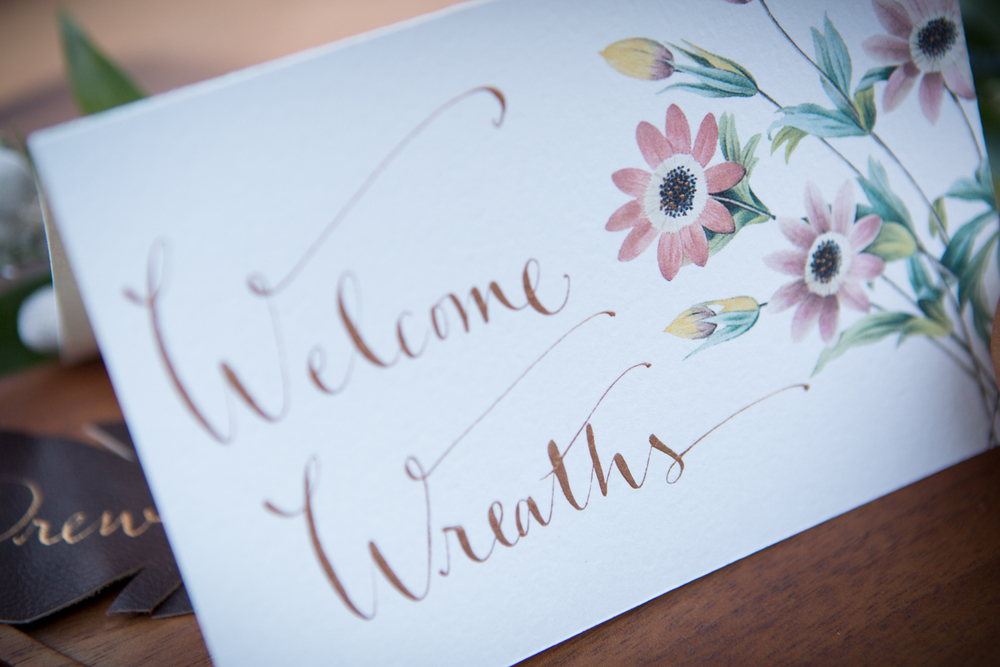 Welcome Wreath sign by kathrynmurray.com