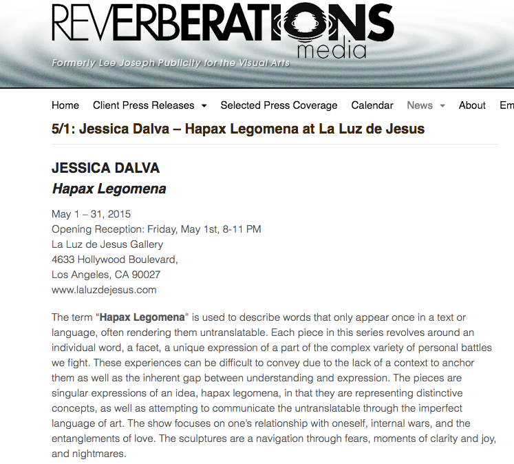 Reverberations Media Press Release
