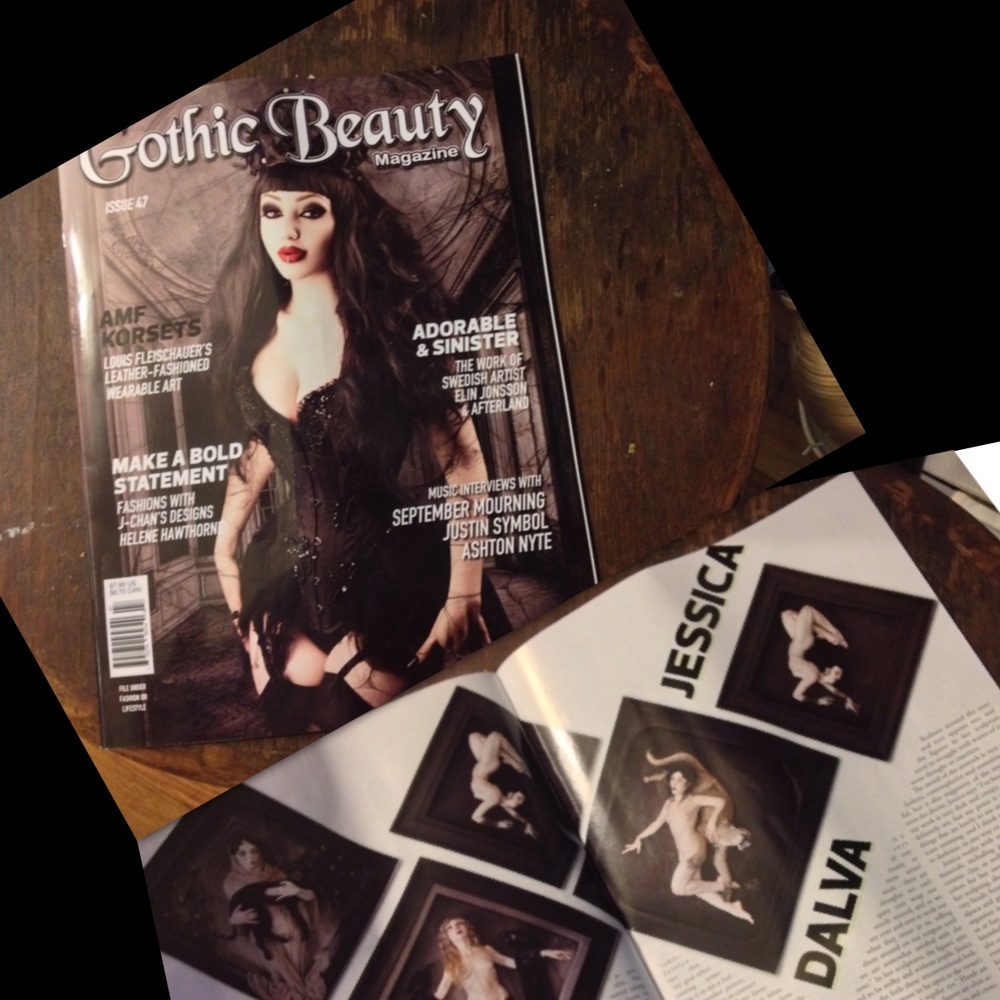 Gothic Beauty Magazine, in print article