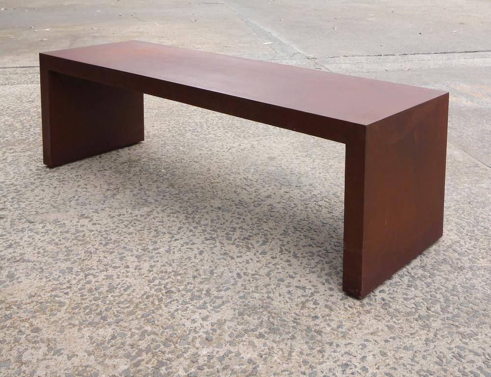korban flaubert_corten bench