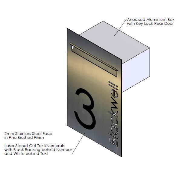 F  aceplate - 410mm (w) x 630mm (h) x 2mm (d)   Internal Box - 350mm (w) x 185mm (h) x 240mm (d)