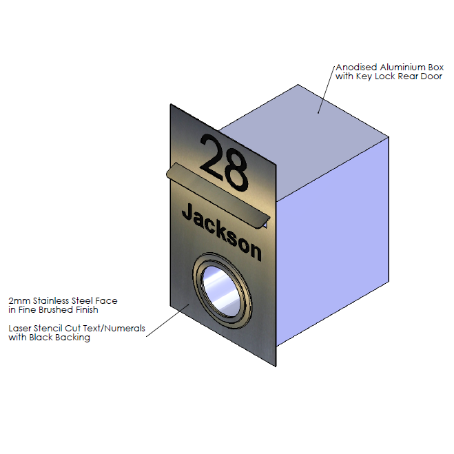 F  aceplate - 290mm (w) x 480mm (h) x 2mm (d)   Internal Box - 250mm (w) x 344mm (h) x 330mm (d)