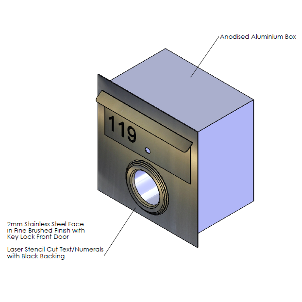 Faceplate - 390mm (w) x 390mm (h) x 2mm (d)   Internal Box - 345mm (w) x 342mm (h) x 240mm (d)