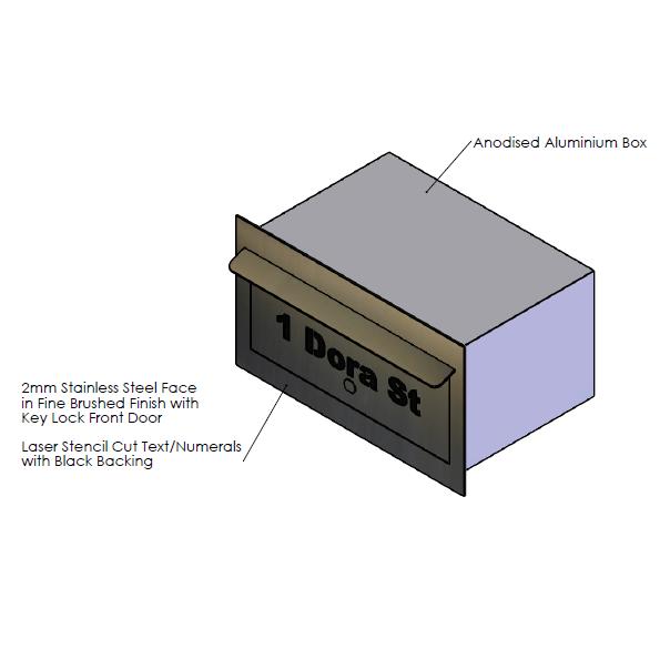 F  aceplate - 390mm (w) x 220mm (h) x 2mm (d)   Internal Box - 350mm (w) x 185mm (h) x 240mm (d)