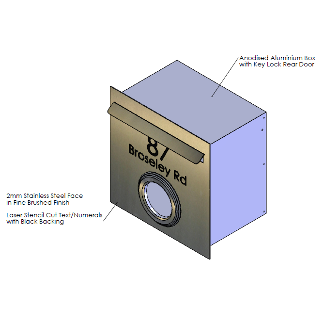 F  aceplate - 390mm (w) x 390mm (h) x 2mm (d)   Internal Box - 350mm (w) x 342mm (h) x 240mm (d)