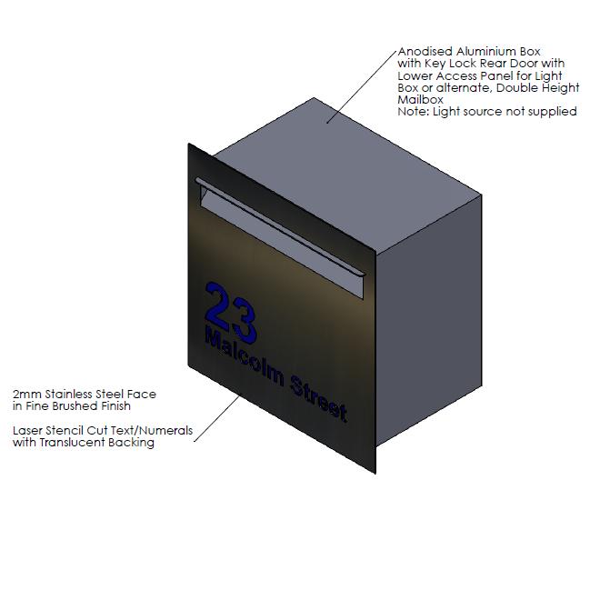F  aceplate - 390mm (w) x 400mm (h) x 2mm (d)   Internal Box - 350mm (w) x 344mm (h) x 240mm (d)