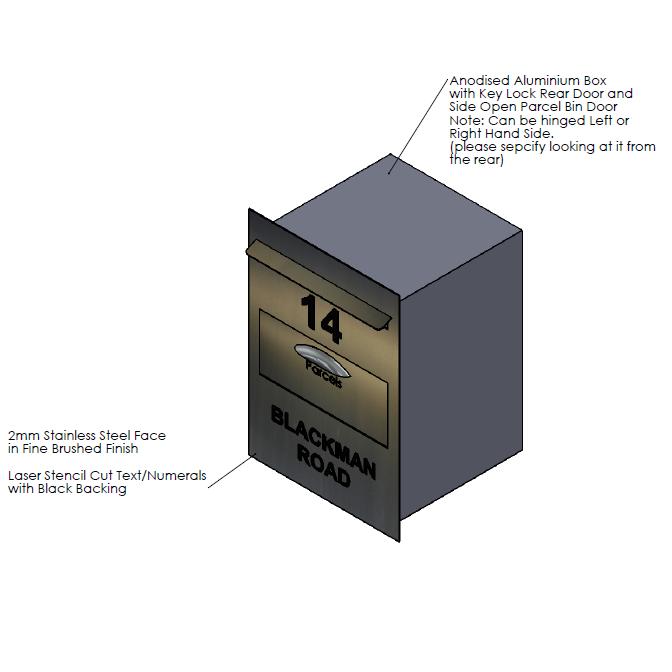 F  aceplate - 400mm (w) x 564mm (h) x 2mm (d)   Internal Box - 350mm (w) x 504mm (h) x 350mm (d)