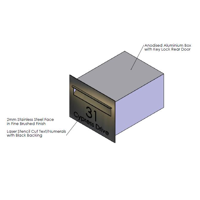F  aceplate - 390mm (w) x 230mm (h) x 2mm (d)   Internal Box - 350mm (w) x 185mm (h) x 330mm (d)