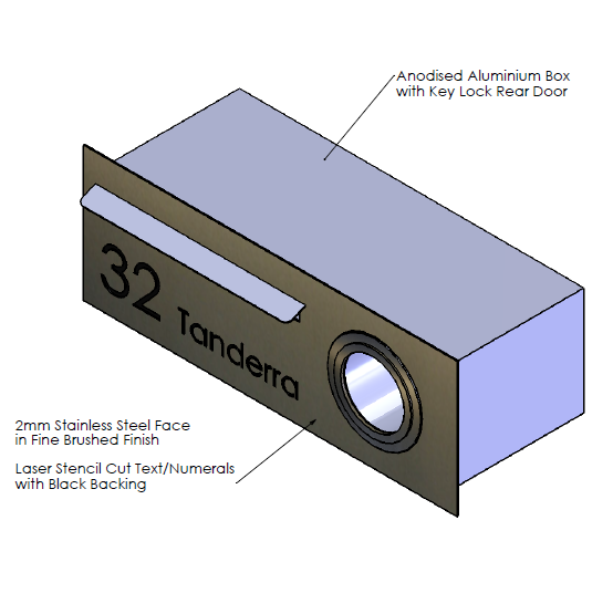 F  aceplate - 640mm (w) x 230mm (h) x 2mm (d)   Internal Box - 590mm (w) x 185mm (h) x 240mm (d)