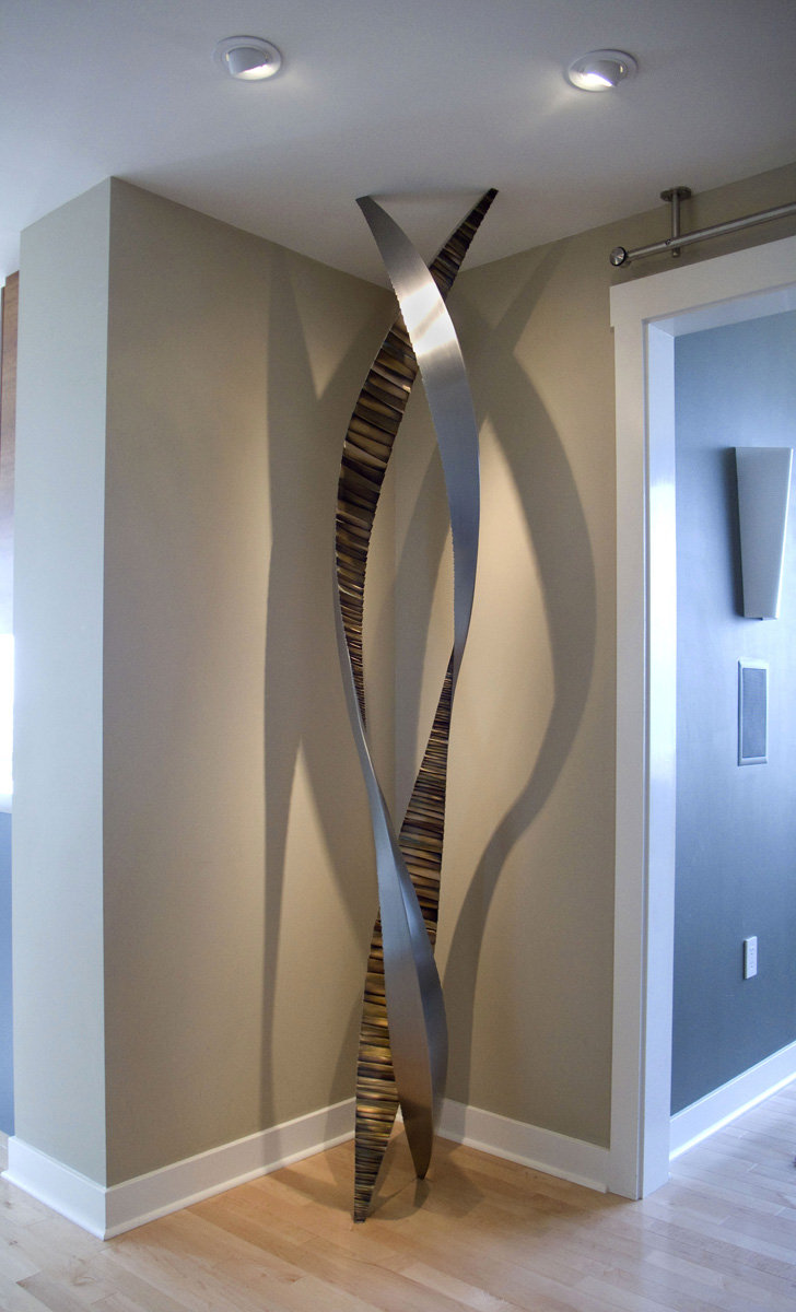 Untitled , Stainless Steel & Bronze, 8' x 3' x 3', 2009, Private Residence, San Francisco, CA