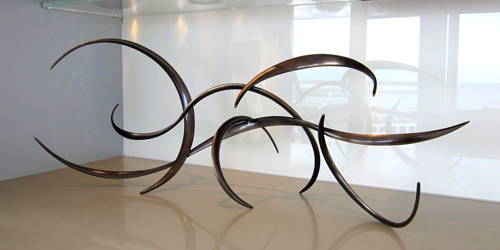 "Petrified Breeze , Cast Bronze, 20"" x 38"" x 10"", 2010, Private Residence, San Francisco, CA"