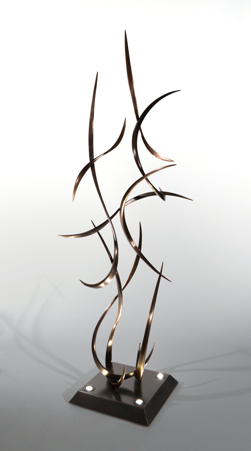 "Scatterfall , Bronze & Steel, 96"" x 42"" x 38"", 2012"