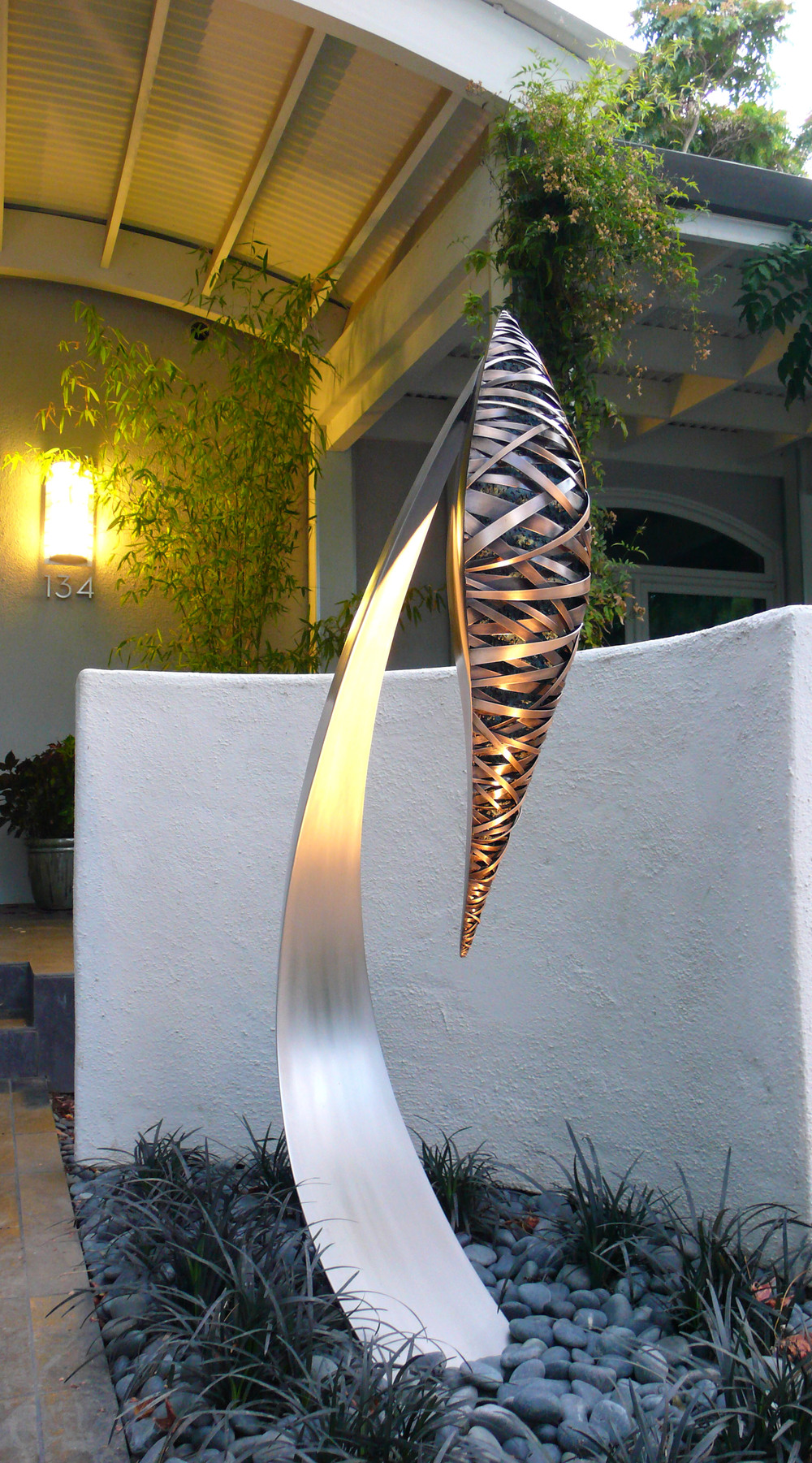 Innocentinals , Bronze & Stainless Steel, 5' x 3' x 1' (each), 2009,Private Residence, Palo Alto, CA