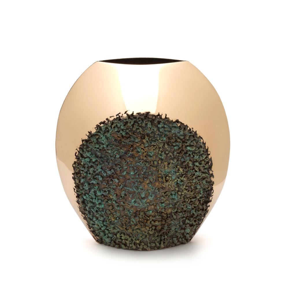 "Crescent Polish/Texture - bronze  8"" x 8"" x 4"""