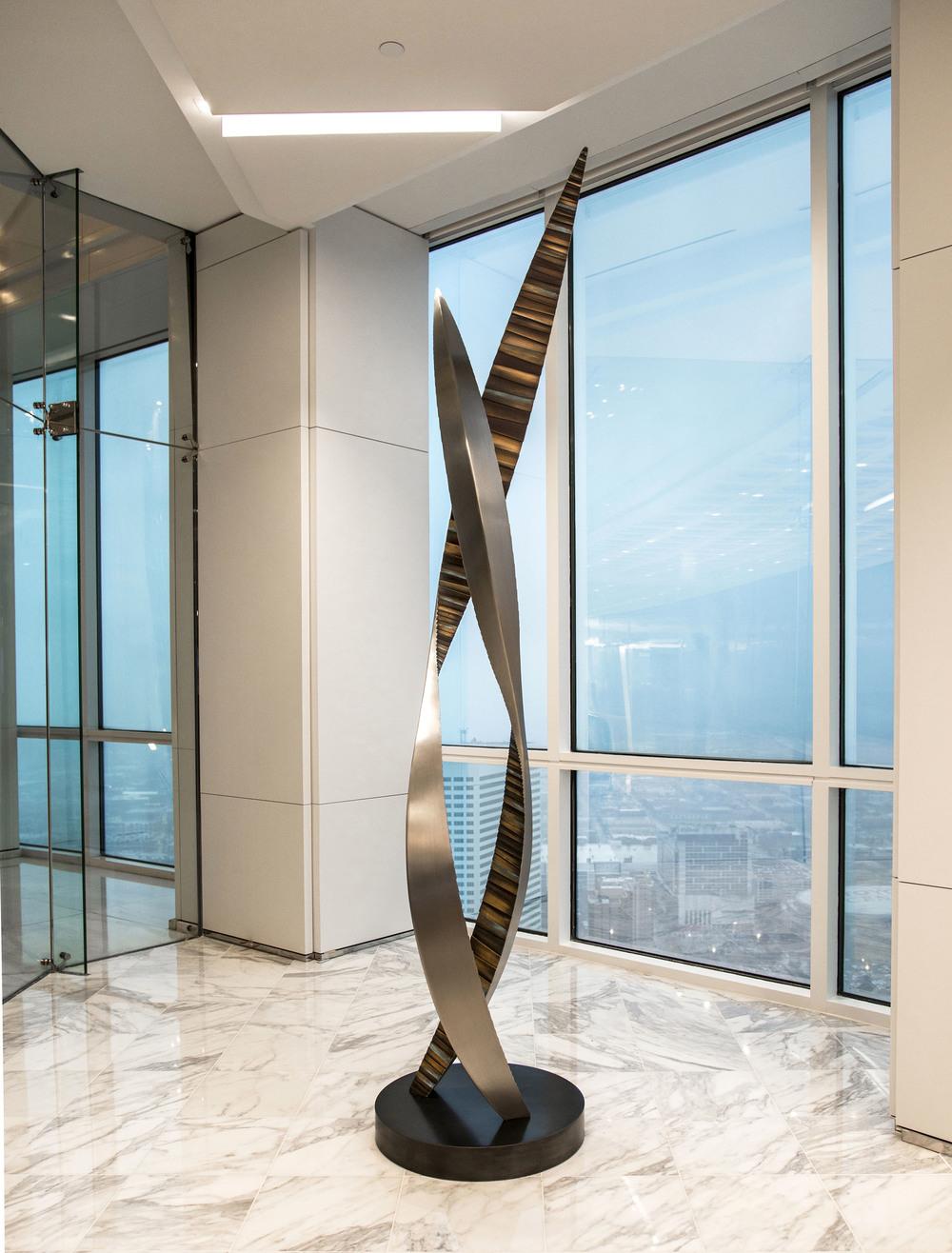 Grasps , Bronze & Stainless Steel, 10' x 2' x 2', 2015