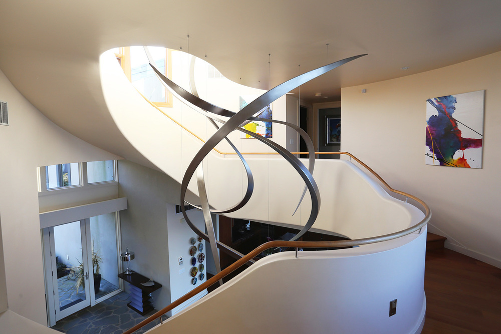 Tendrils , Stainless Steel, 13' x 9' x 7', 2016, Private Residence, Annapolis, MD
