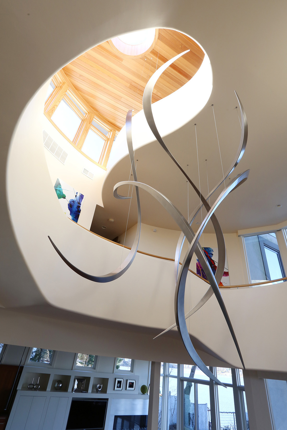 Tendrils , Stainless Steel, 13' x 9' x 7', 2016, Private Residence,Annapolis, MD
