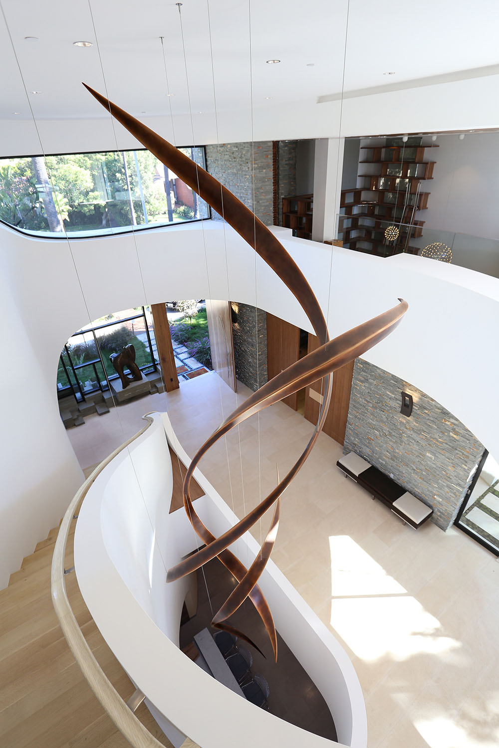 Passage , Bronze, 28'' x 8' x 8', 2017, Private Residence, Beverly Hills, CA