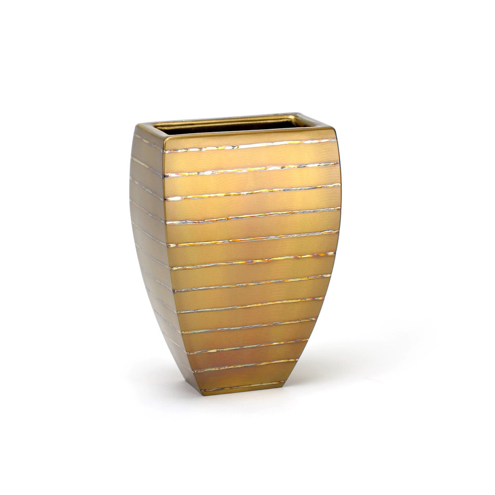 "Wide Table - horizontal heat stripe , 9"" x 4"" x 6.5"", Stainless Steel"