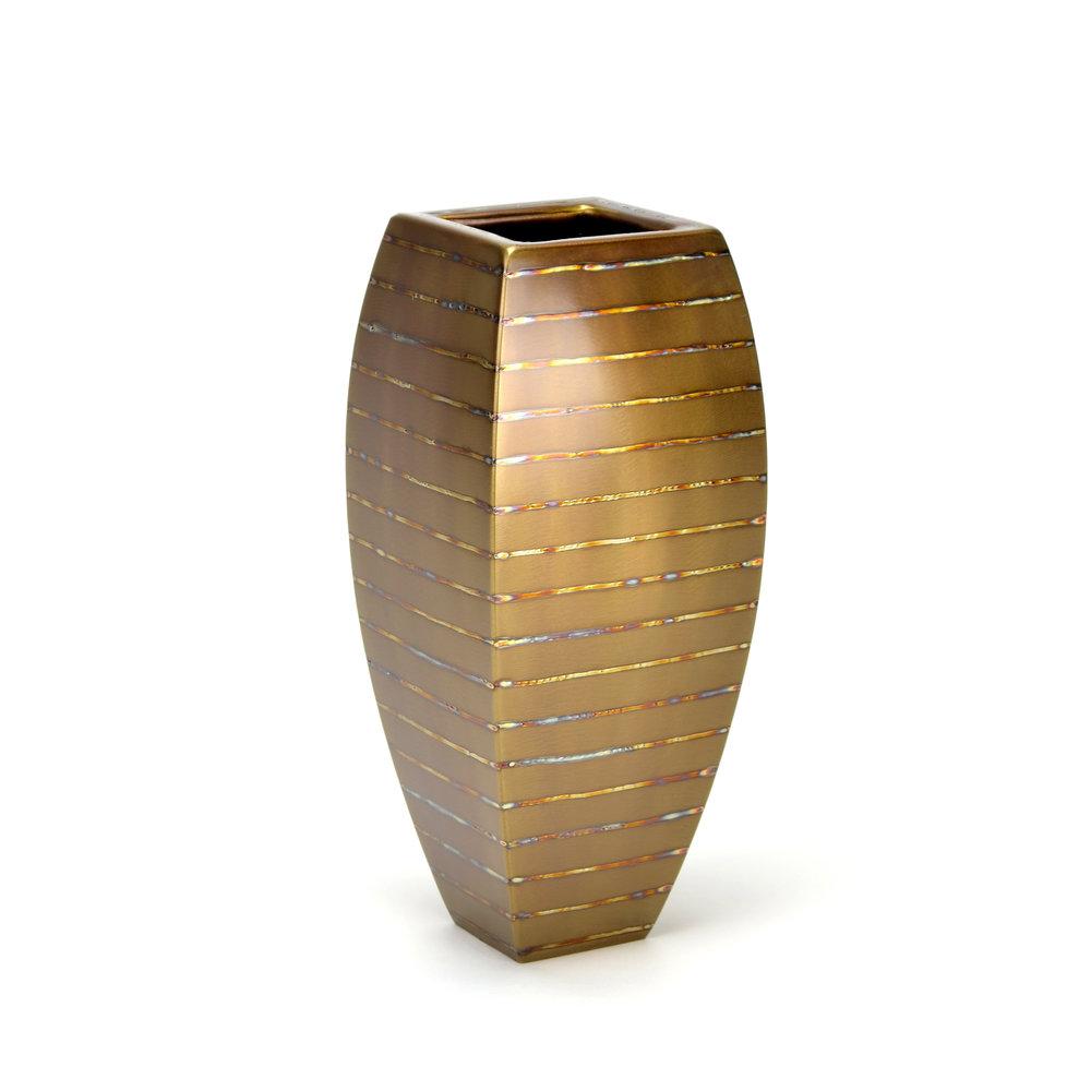 "Large Table - horizontal heat stripe , 13"" x 5.5"" x 5.5"", Stainless Steel"