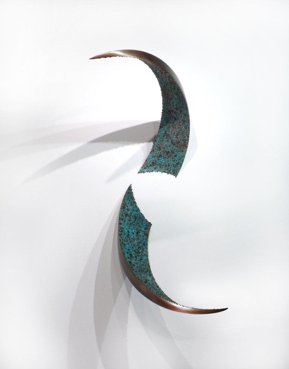 """Wall Pierce , Bronze, 48"""" x 33"""" x 25"""", 2011"""