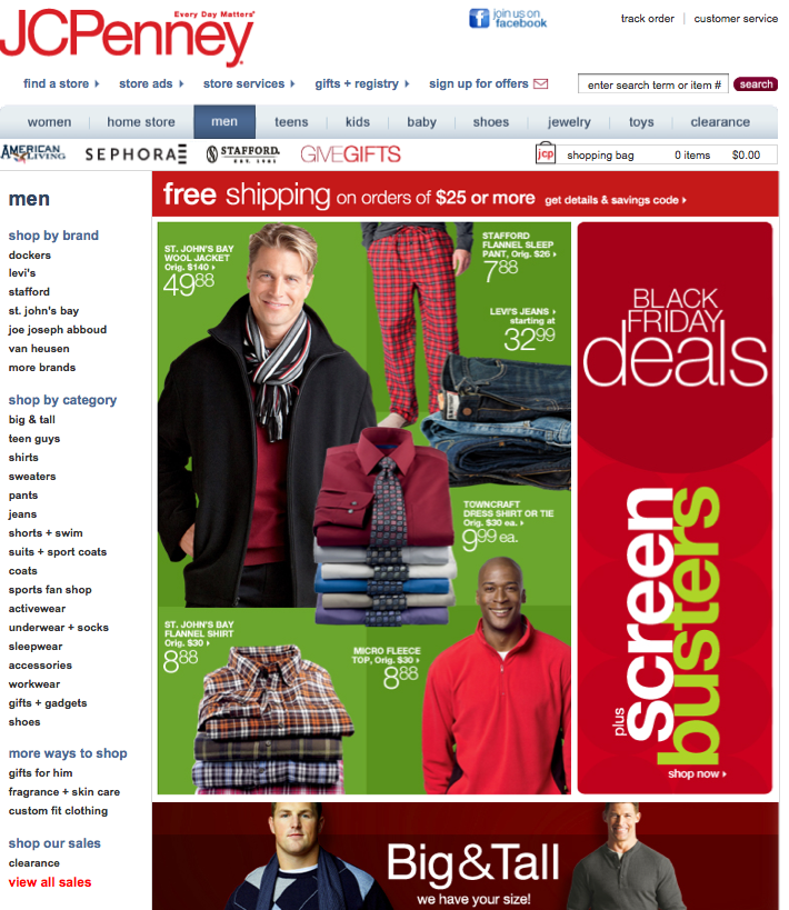 JCPenney Black Friday2009  Landing Page