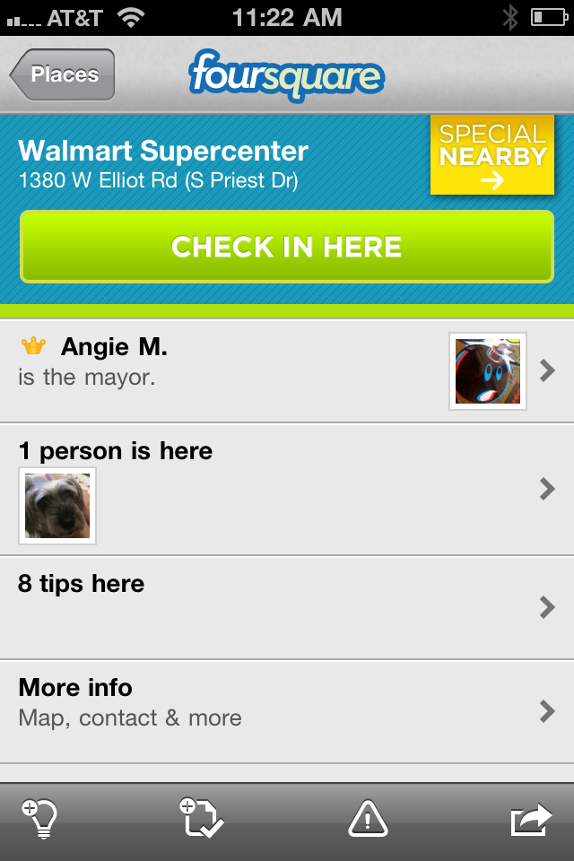 Walmart Foursquare Competing Offer