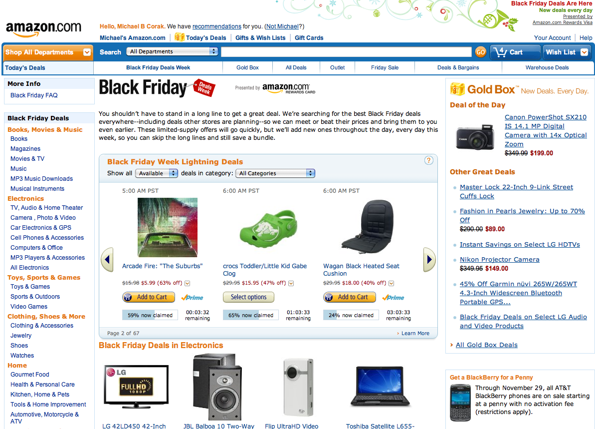 amazon.com - Black Friday