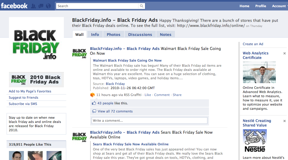 BlackFriday.info Facebook