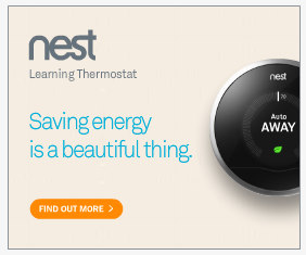Nest Thermostat digital display ad. One message that the viewer can easily digest.