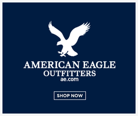 American Eagle display ad. This one is very clear on the brand!