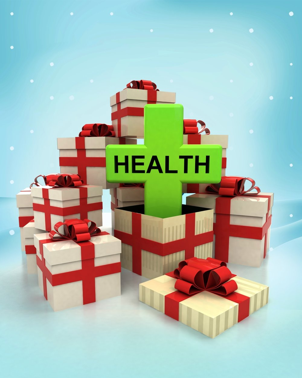 christmas gift boxes with health care surprise at winter.jpg