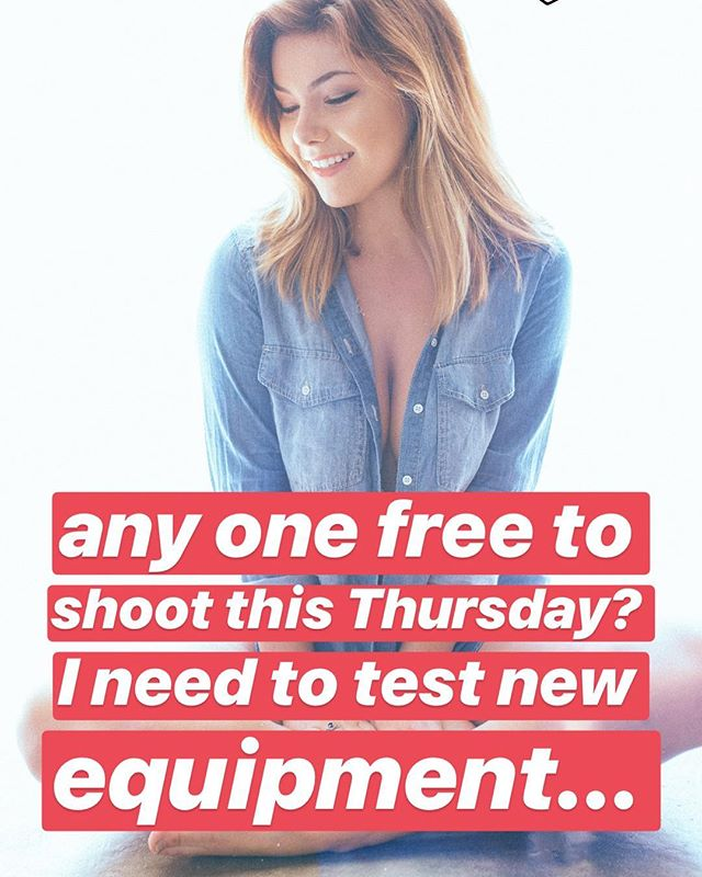any one free to shoot this Thursday? I need to test new equipment... #longbeach #california #canon #model