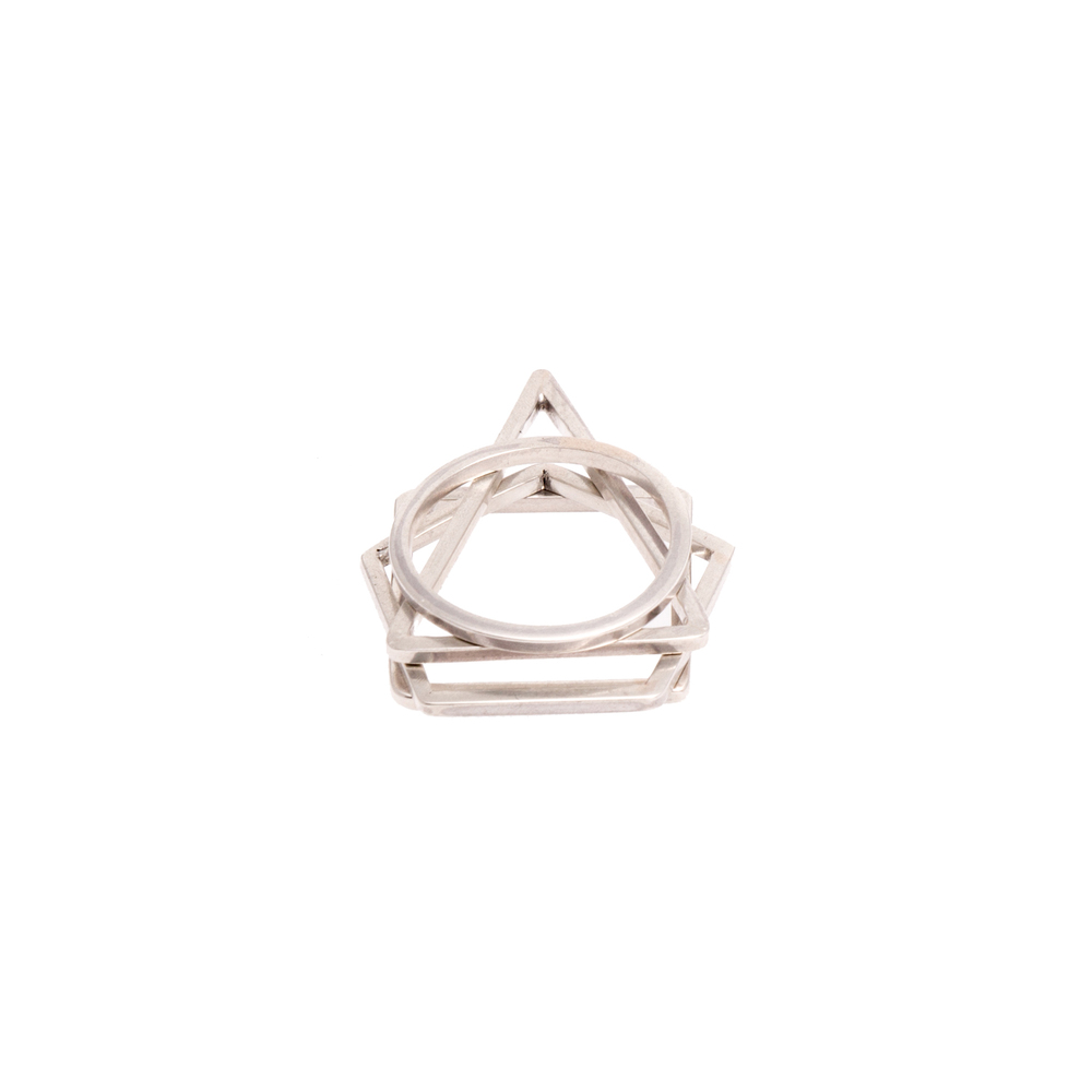 Vitruvius Stacking Rings  Jenny Parker - £40