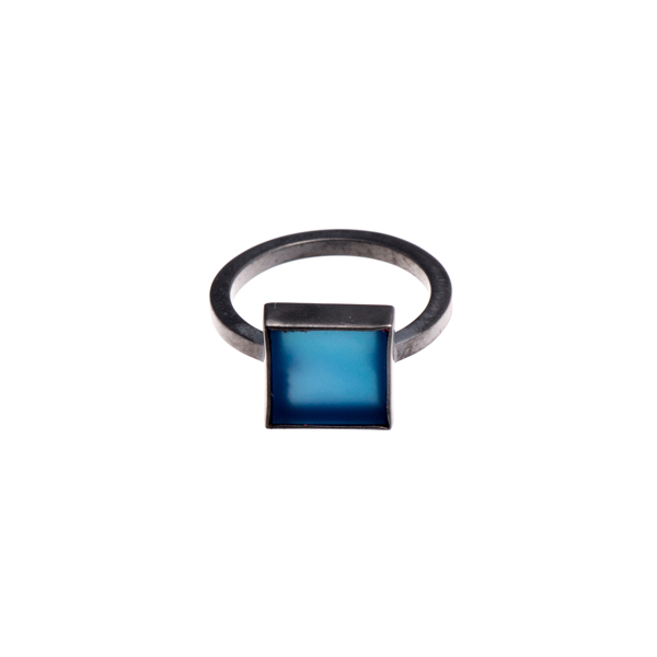 Blue Square Ring   Sian Evans -  £150.00