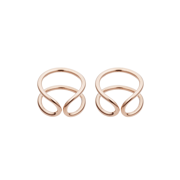 Original Rose Gold Earrings  Coops London - £125.00